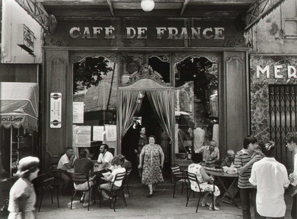 Cafe de France, Isle-sur-la_Sorgue, 1979