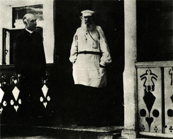 Karl Bulla ir Lev Tolstoy, 1901
